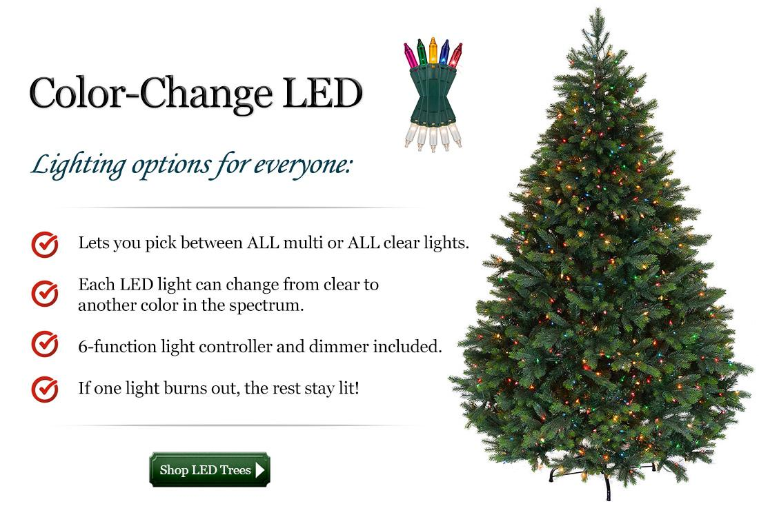 Color change LED lights have options for everyone. They let you pick between all multi or all clear lights and come with a 6 function controller. If one light burns out the rest will stay lit.