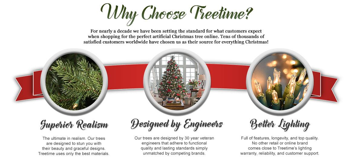 Why Choose Treetime? - Artificial Christmas Trees - Treetime
