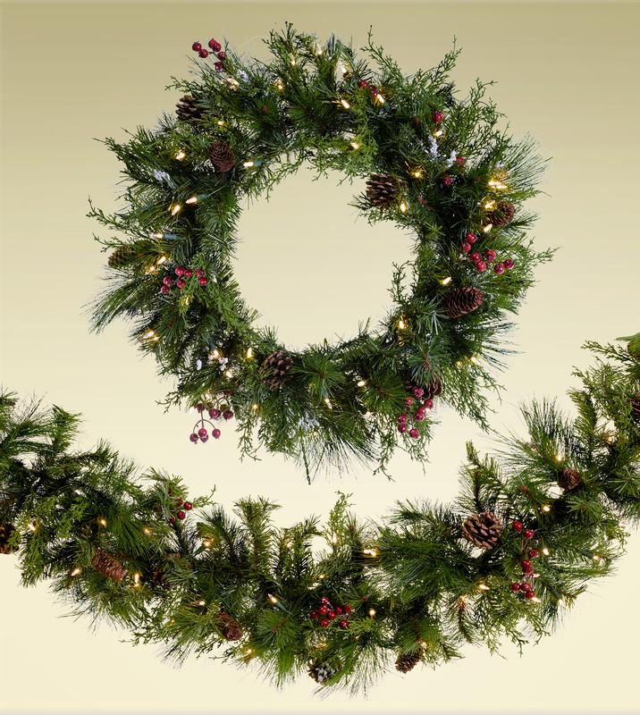 "12"" - 30"" Artificial Christmas Wreaths"