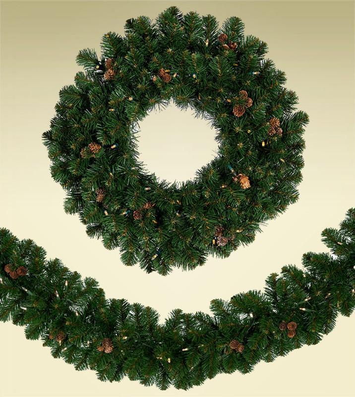 "60"" - 96"" Artificial Christmas Wreaths"