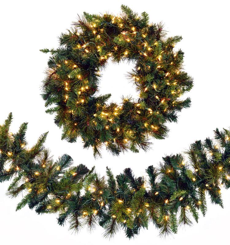 LED Christmas Wreaths & Garland