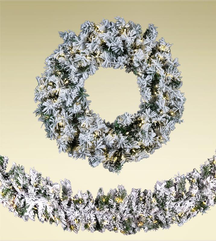 Unlit Christmas Wreaths & Garland
