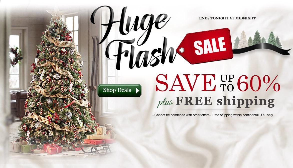 Artificial christmas trees treetime for Flash sale sites for home