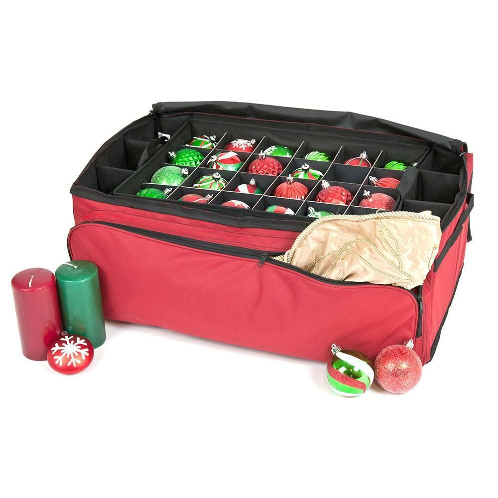 Christmas Ornament And Decoration 3-Tray Storage