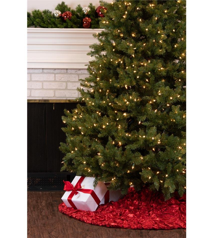 Elegant Christmas Tree Skirts.60 Inch Red Simply Elegant Ruched Tree Skirt