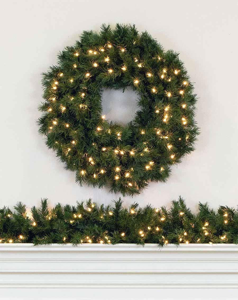 aspen spruce artificial christmas wreaths and garland treetime - Christmas Garland Decorations Sale