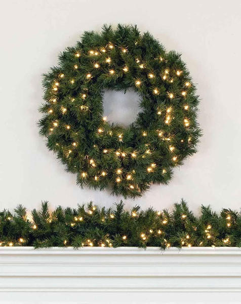 Artificial Christmas Wreaths.Premium 60 96 Inch Prelit Artificial Christmas Wreaths