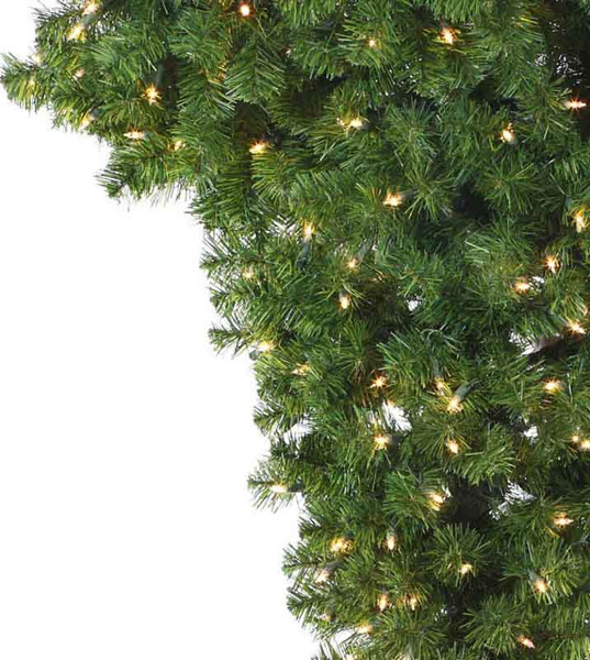 Ceiling artificial christmas trees treetime upside down
