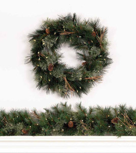 Foxtail Mixed Pine Wreath & Garland