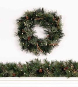 Foxtail Mixed Pine Wreath & Garland
