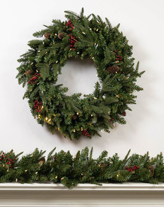 Mixed Frasier Fir Wreaths & Garland