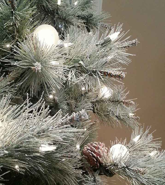 Frosted Elegance Pine Flocked Artificial Christmas Trees ...