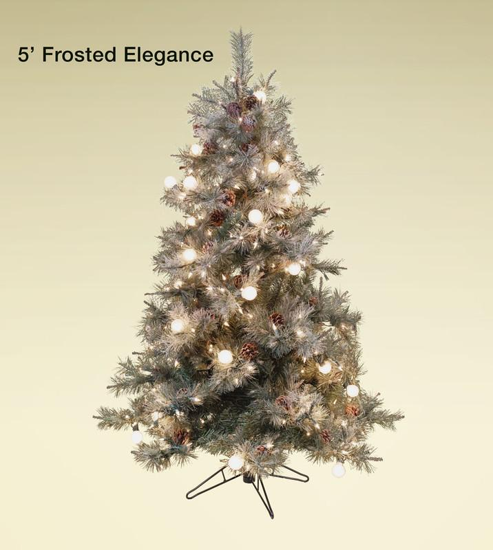 Frosted Elegance Pine Flocked Artificial Christmas Trees Treetime