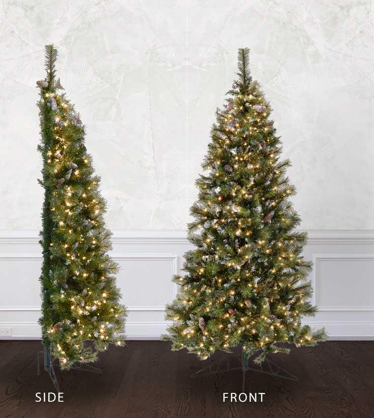 Half Wall Tree - Treetime Artificial Christmas Tree ...