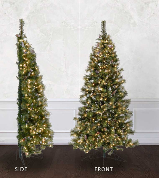 half wall tree treetime artificial christmas tree classics collection - Half Christmas Tree