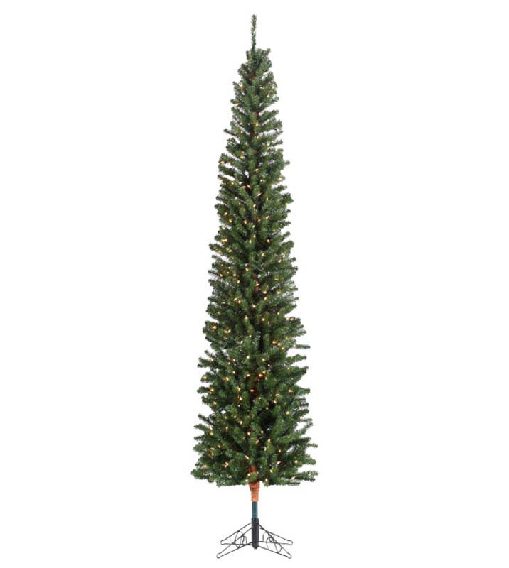 pencil fir slim artificial christmas trees treetime prelit christmas trees