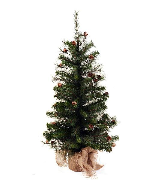Poodle pine unlit artificial christmas tree treetime
