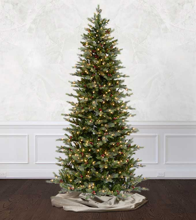 slim santa fe fir artificial christmas trees classics collection treetime - Christmas Tree Classics