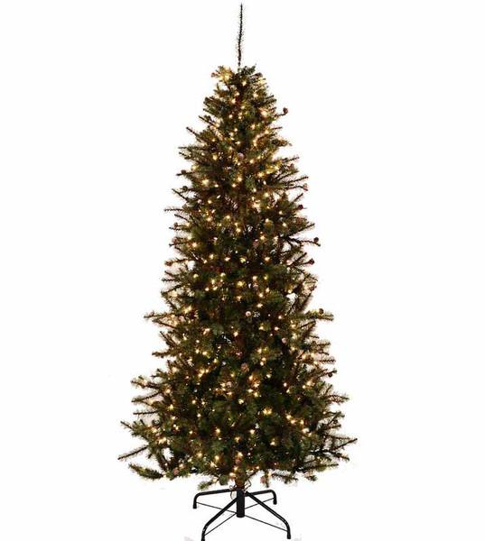 Slim Rustic Pine Artificial Christmas Tree Treetime