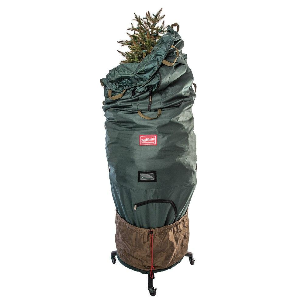 Upright Christmas Tree Storage Bag With Rolling Stand