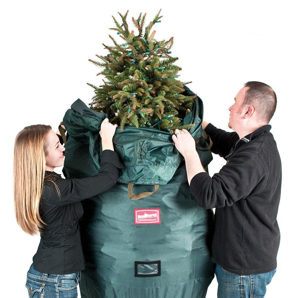 Upright Christmas Tree Storage Bag with Rolling Stand ...