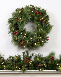 Berry Pine Wreaths & Garland