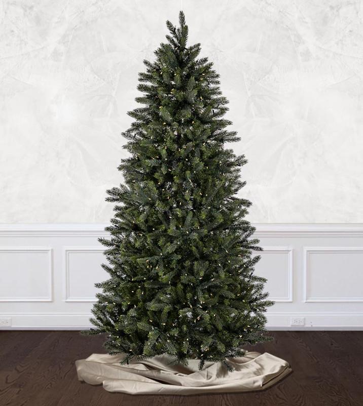 platinum - Prelit Christmas Trees