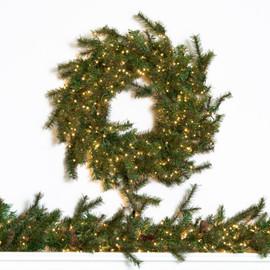 Farmhouse Pine Wreath & Garland