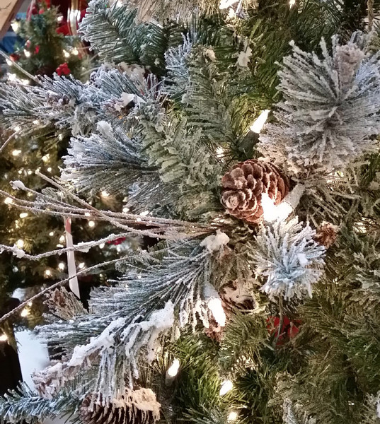 Frosted virginia pine artificial christmas tree classics