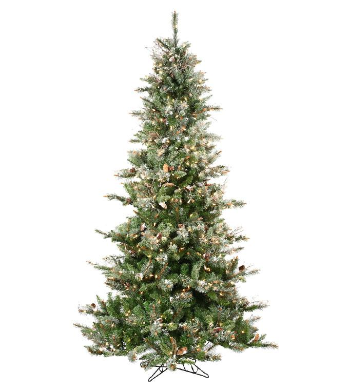Frosted Virginia Pine Artificial Christmas Tree - Classics Collection