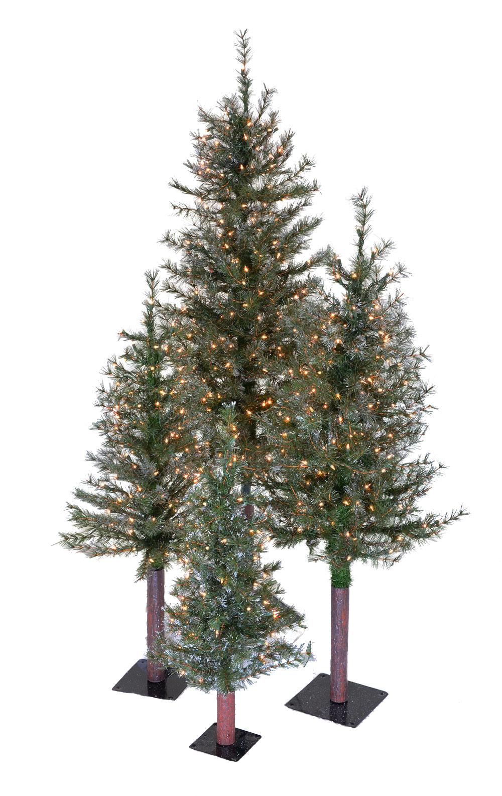 Glittered Alpine Designer Christmas Trees Treetime Slim