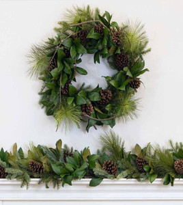 this wreaths decor greenery christmas pre extremely is realistic caochangdi wreath co apples monogram decorated and berries by artificial characterized