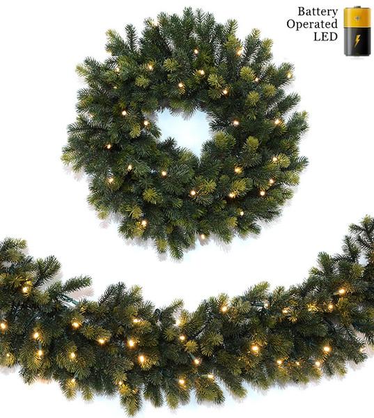 Unlit Artificial Christmas Wreaths Garlands Treetime