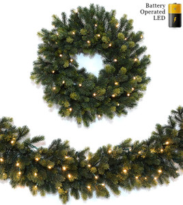 Natural Spruce Wreaths & Garland