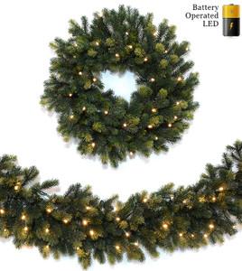 Natural Spruce Wreaths & Garland