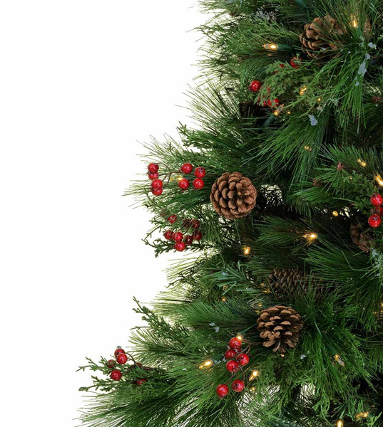 potted berry pine - Potted Artificial Christmas Trees