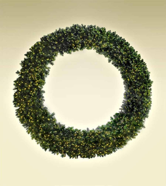 radiant 8 ft wreath - How To Decorate Artificial Christmas Wreath