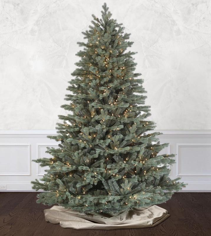 savoy blue spruce artificial christmas trees platinum collection treetime - Already Decorated Christmas Trees