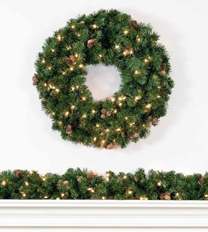 scottsdale spruce artificial christmas wreaths and garland treetime