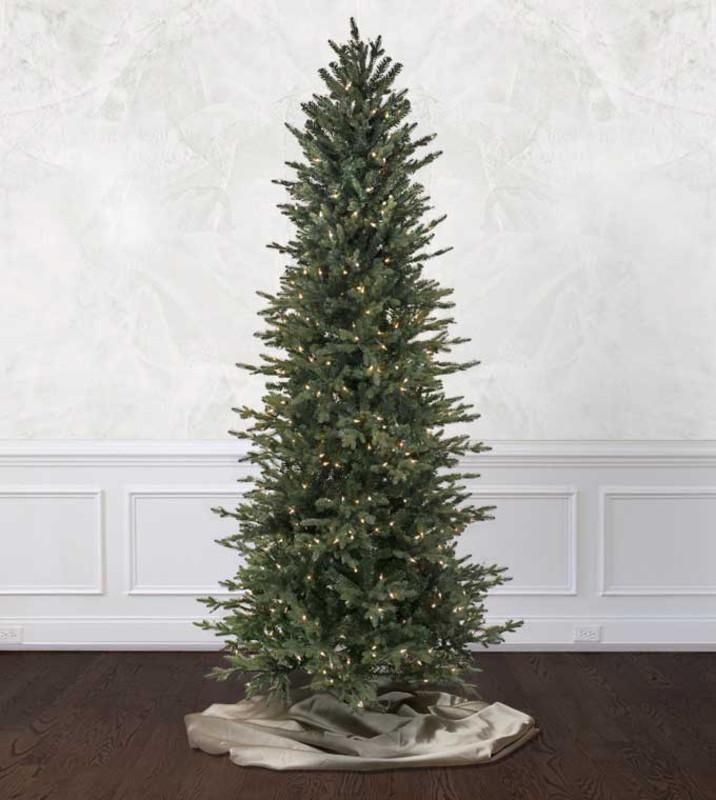 narrow artificial christmas trees 9 foot ceiling platinum slim artificial christmas trees treetime