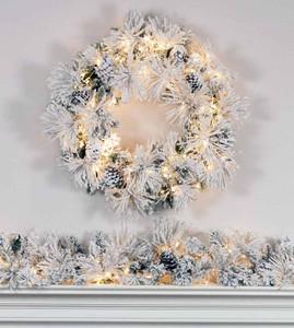 Snow Angel Wreath and Garland