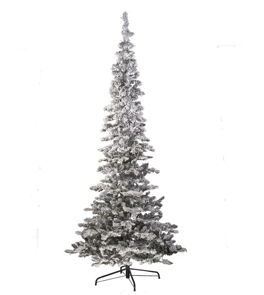 8 Ft Flocked Christmas Tree: Flocked Snow Belle Artificial Christmas Trees