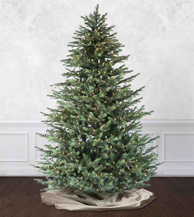 12 Ft Flocked Christmas Tree: Victorian Fir Artificial Christmas Trees