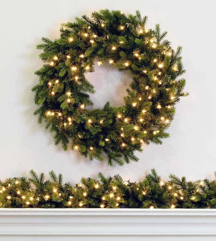 wexford spruce artificial christmas wreaths and garland treetime - How To Decorate Artificial Christmas Wreath